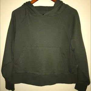 Forever 21 Army Green Hooded Juniors Sweatshirt